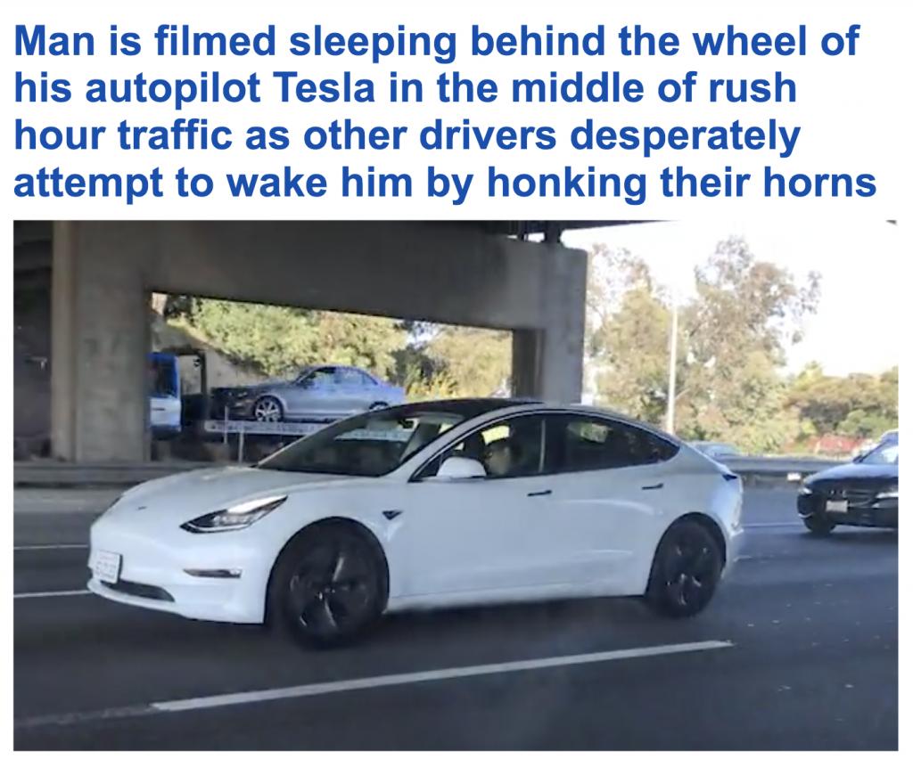 شاهد ..سائق نائم أثناء القيادة  يثير الذعر على طريق مزدحم بولاية كاليفورنيا!