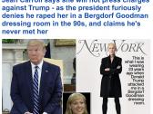 صحفية تتهم ترامب باغتصابها  قبل 23 عاما. .. والبيت الأبيض يرد!