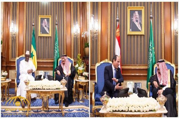 على هامش أعمال القمة الاسلامية .. خادم الحرمين يلتقي برئيسي مصر والسنغال