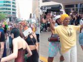 """شاهد.. الصومالية  """"إلهان عمر"""" أول عضوة مسلمة في الكونغرس الأمريكي ترقص مع المثليين !"""