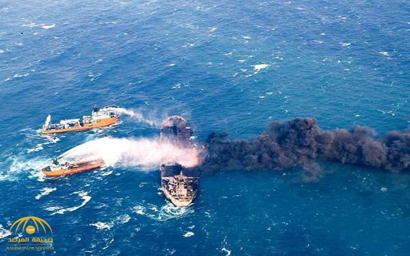 """تطورات صادمة  .. غرق الناقلة """"فرونت ألتير"""" بعد الهجوم  عليها في خليج عمان"""