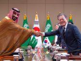 بالصور :  رئيس جمهورية كوريا وولي العهد يعقدان اجتماعا موسعا ويبحثان مستجدات الأحداث والقضايا الإقليمية والدولية