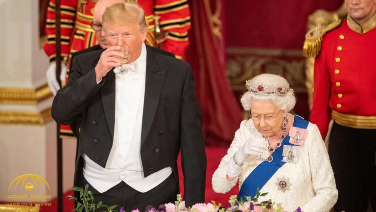 أبرزها حركة الكتف .. شاهد كيف خرق ترامب البروتوكول عدة مرات أمام ملكة بريطانيا