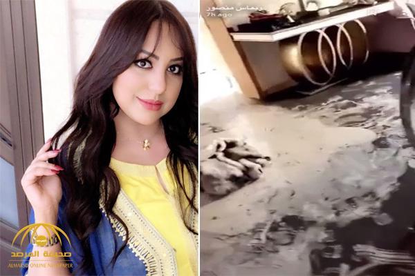 """شاهد أول فيديو لشقة الممثلة """"ريماس منصور"""" بعد احتراقها"""