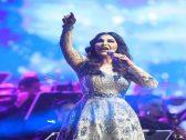 """شاهد : تفاعل الجمهور السعودي مع المطربة """"أحلام"""" فى أغنية """"يامنيتي"""" في حفلها بجدة"""