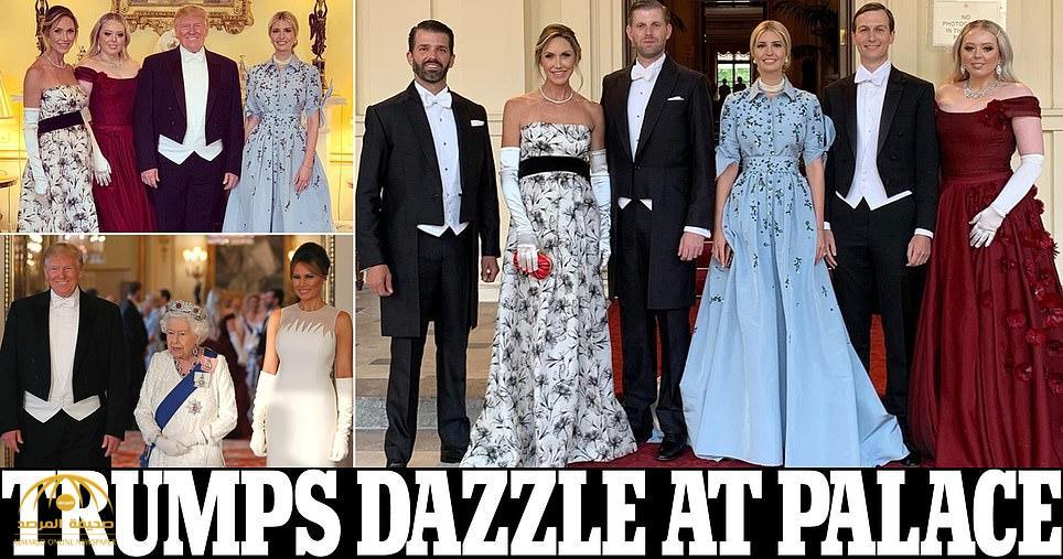 شاهد بالصور .. كيف احتفت ملكة بريطانيا بالرئيس الأمريكي ترامب وزوجته