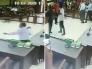 شاهد.. محام يضرب قاضي بالحزام على وجهه داخل محكمة في إندونيسيا!