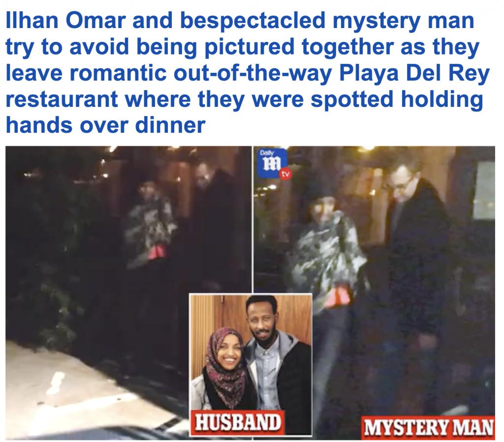 """شاهد .. عدسة مصور تفضح النائبة المسلمة  """" إلهان عمر"""" أثناء لقاء رومانسي مع صديقها في كاليفورنيا"""