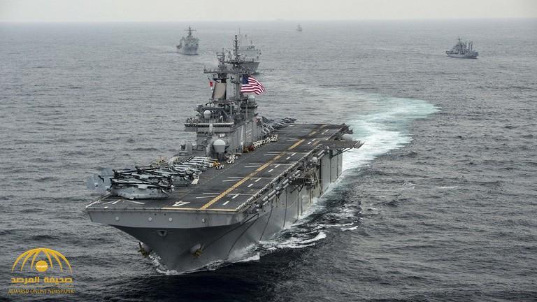 سفينة أمريكية حربية  ترد على إيران بالمثل وتسقط طائرة مسيرة فوق مضيق هرمز