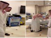 """شاهد: زيارة الملك سلمان لأخيه الراحل بندر في المستشفى قبل وفاته ووصيته لـ""""خادم الحرمين """""""