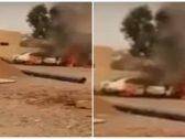 شاهد.. حرق سيارة مواطنة أمام منزلها بعيدابي جازان .. والجاني يلوذ بالفرار