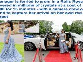 """بـ""""رولز رويس مغطاة بالكريستال"""".. شاهد: كيف احتفلت فتاة بريطانية حسناء بتخرجها من المرحلة الثانوية"""