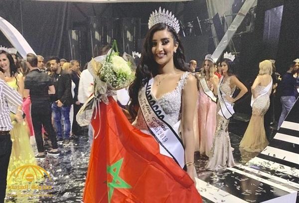 """بالصور .. الحسناء المغربية """"فريال الزياري"""" تتوج بلقب ملكة جمال العرب لعام 2019"""