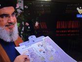 """أدرعي يسخر من """"نصر الله"""": يهدد ويمسك بالخريطة من داخل السرداب بعد 13 عامًا على """"النصر الالهي""""!"""