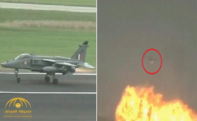 شاهد : فيديو صادم لطيار هندي يتخلص من صواريخ وخزان الوقود الإضافي على منطقة سكنية .. والسبب مفاجأة !