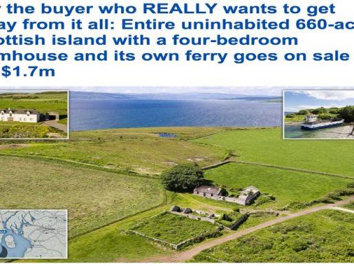 بالصور : عرض جزيرة اسكتلندية للبيع .. والثمن مفاجأة !