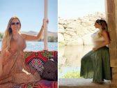 """شاهد زوجة لاعب برشلونة """"فيدال"""" أثناء زيارتها المعالم الأثرية في أسوان بمصر"""