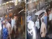 شاهد:  مسؤول عراقي  يضرب ضابط بالزي الرسمي عند نقطة أمنية في بغداد