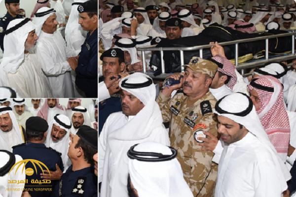صور.. تشييع جثمان الضابط الكويتي وزوجته وابنيه الذين قضوا في حادث مروري بالمملكة