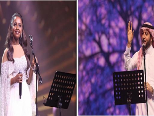 فيديو وصور.. داليا مبارك وماجد المهندس يشعلان حفلاً غنائيًا فى جدة.. وهكذا تفاعل الجمهور !