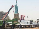 """أول تعليق من """"أمانة جدة"""" على  بناء تمثال الحرية بكورنيش الحمراء-فيديو"""
