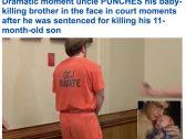 """ردة فعل مُفاجئة لـ """"أمريكي"""" تجاه شقيقه بعد إدانة الأخير بقتل طفله الرضيع.. شاهد: ما حدث خارج المحكمة!"""