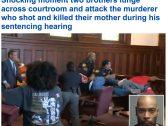 شاهد.. شقيقان أمريكيان يفقدان السيطرة على نفسهما أثناء جلسة محاكمة قاتل أمهما.. وهذا ما فعلاه بالمتهم