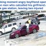 شاهد : ردة فعل رجل أمريكي أسود  تجاه 4 شباب سخروا من صديقته أثناء مرورهم بجانبها!
