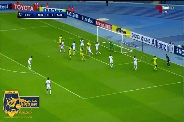 """بالفيديو  : """"النصر"""" يهزم """"السد"""" القطري   بهدفين مقابل هدف  في دوري أبطال آسيا"""