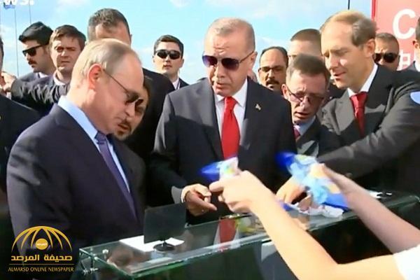 """""""أردوغان"""" يسأل """"بوتين"""" بعد شرائهما """"آيس كريم"""": """"هل ستدفع حسابي؟"""".. هكذا رد الرئيس الروسي"""