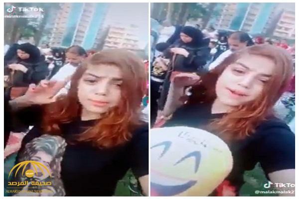 فيديو صادم: فتاة مصرية تثير الجدل بغنائها وسط المعيدين وهم يؤدون صلاة العيد