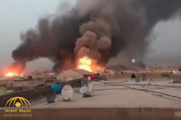 شاهد: انفجار ضخم في بغداد وسقوط قذائف بمحيط سفارة أمريكا