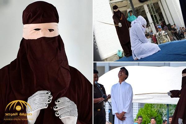 بالصور والفيديو .. تنفيذ الجلد في  11 رجلًا وامرأة في إندونيسيا  .. ومفاجأة بشأن أحد المُعاقبين!