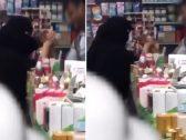 """فيديو متداول لفتاة منتقبة تلعب """"ريست"""" مع عامل داخل محل !"""