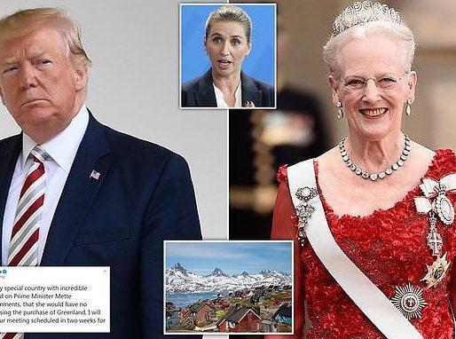 """ترامب يفاجئ  العائلة الملكية في الدنمارك بهذا القرار بعد رفض  بيع  جزيرة """"غرينلاند"""" له!"""