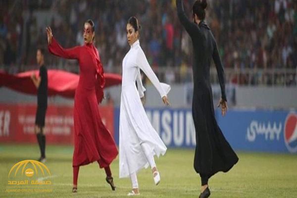 شاهد .. رقص وعزف فتيات عراقيات في حفل افتتاح بطولة غرب آسيا بكربلاء !