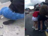 بالفيديو .. لحظة الاعتداء بالضرب على فتاة مسلمة وتمزيق حجابها في إيرلندا