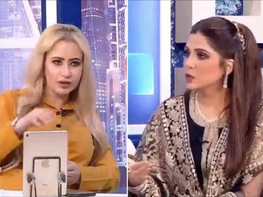 """بالفيديو .. """"مي العيدان"""" تصدم مذيعة كويتية بتغير شكلها في صورة قديمة وتعرضها على الهواء"""