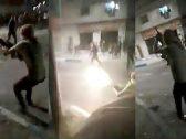 شاهد .. مواجهة مسلحة بالرشاشات بين قوات الدرك الأردنية ومحتجين في مدينة الرمثا