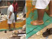 شاهد : عمال مستودع تابع لأحد محال الحلويات يدهسون مواد التصنيع بأقدامهم!