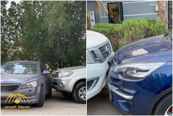 بالصور : تفاصيل جديدة في واقعة احتجاز مواطن لسيارة سيدة لاعتراضه على قيادتها!