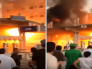 """شاهد.. لحظة التهام حريق ضخم لمحطة وقود في تبوك.. وأول تعليق لـ""""الدفاع المدني"""" !"""