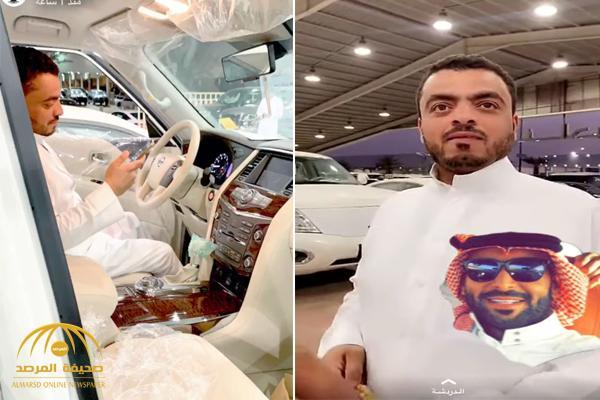 """بالفيديو : من هو الوجه الجديد الذي حصل على هدية """" يزيد الراجحي"""" الفارهة ؟"""