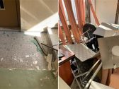 """شاهد .. أول صور من داخل المركز الإعلامي لحزب الله اللبناني بعد استهدافه بطائرة """"إسرائيلية"""" مسيرة"""