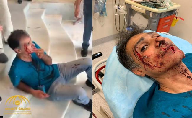 شاهد بالصور والفيديو : اعتداء مروع على شاب سعودي في ماليزيا والكشف عن جنسية الجاني