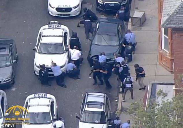 إطلاق نار وإصابة عدد من رجال الأمن في مدينة فيلادلفيا الأمريكية -فيديو