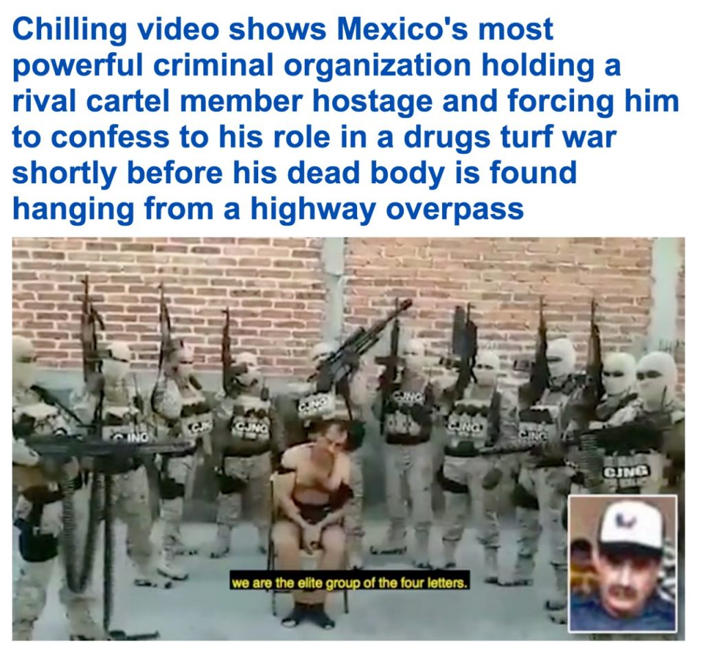 """على الطريقة الداعشية.. شاهد عصابة مخدرات بالمكسيك تتخلص من """"تاجر منافس"""" بطريقة بشعة !"""