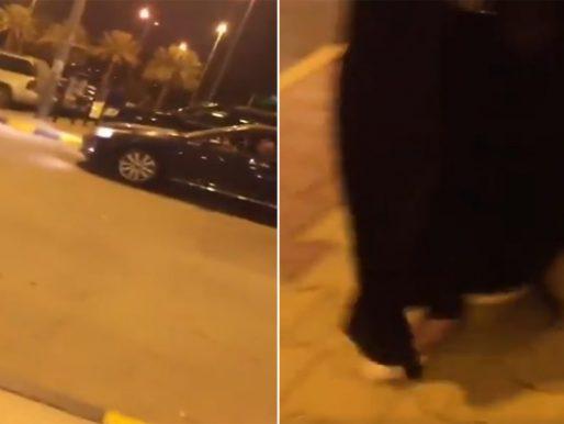 بالفيديو .. قائد مركبة يتحرش بفتيات خارج مول تجاري ببريدة