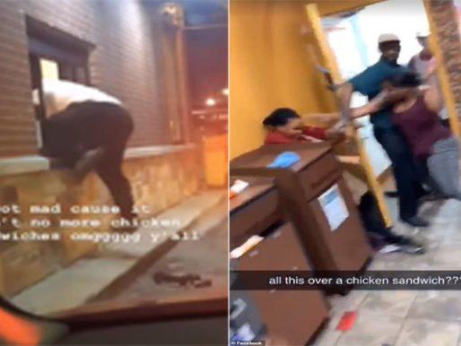 شاهد .. عميل يقفز من النافذة المخصصة لطلبات السيارات ليعتدي على موظفة داخل مطعم في أمريكا