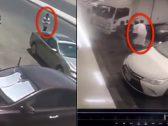 """شاهد.. لحظة إطاحة المواطنين بـ """"لص"""" السيارات في حي الوزيرية.. هكذا شلوا حركته !"""